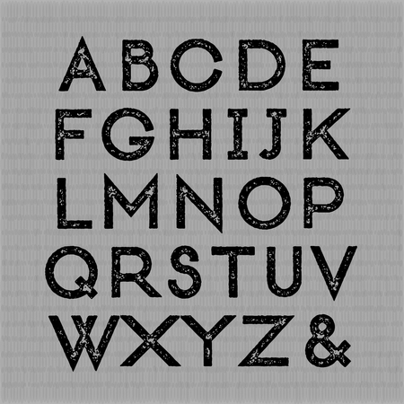 bauhaus: Trendy letterpress font. All caps. high quality design element.
