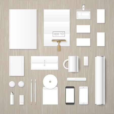 high up: corporate identity mock up collection. High quality design elements.
