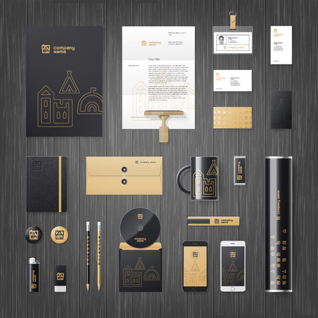 modern corporate identity template for real estate or travel agency