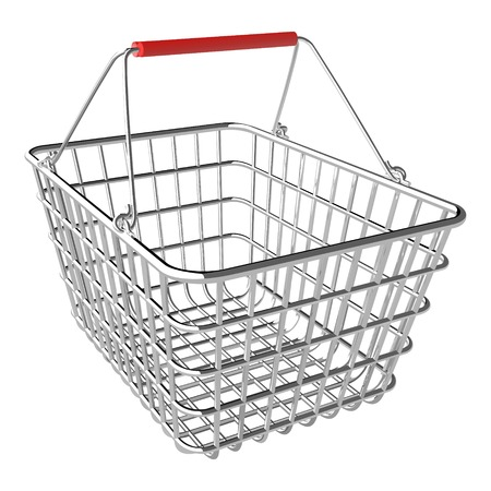 Vector empty shopping basket on white background Vector