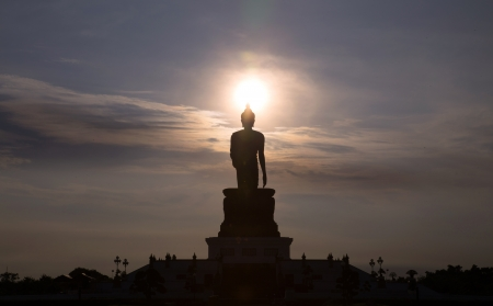 Silhouette Buddha photo