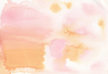 Watercolor Background Isolated Wash Gradient Pink Blush Orange Yellow