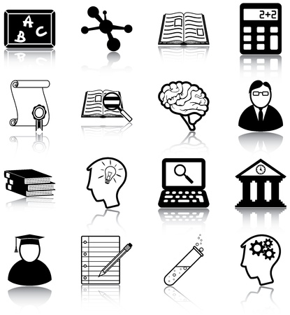 Learning and knowledge related icons Imagens - 20887041