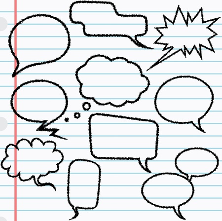 10 speech bubbles with scribble effect  Çizim