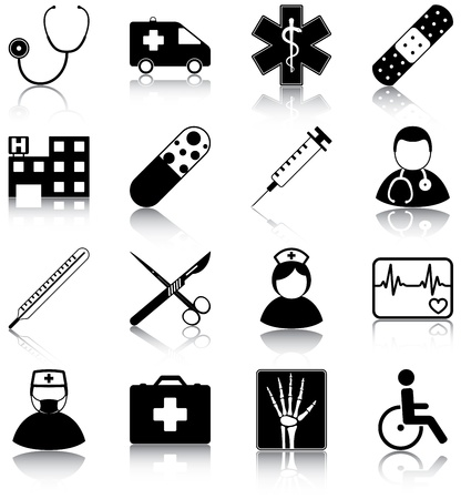 16 medical related icons   Çizim