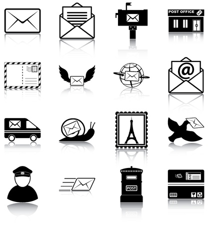 16 mail related icons  Vector