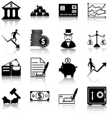 16 finance related icons Imagens - 20887081