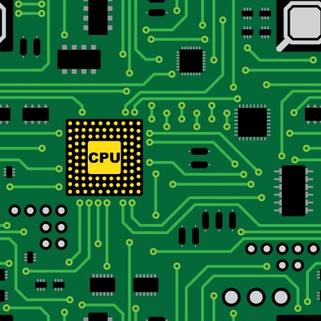 electronic components: Circuit board seamless pattern