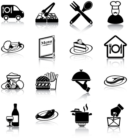 Restaurant related icons Vector