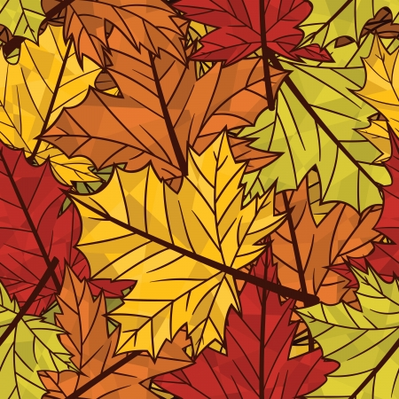 acer: Autumn related seamless pattern Illustration