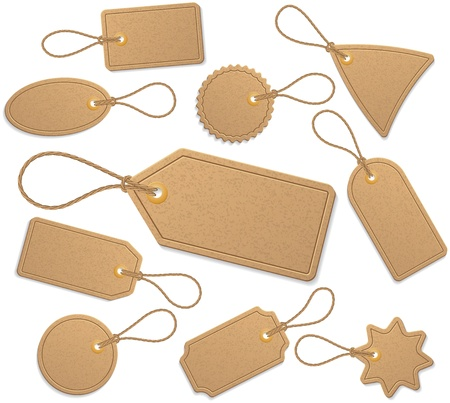 carton: Set of tags