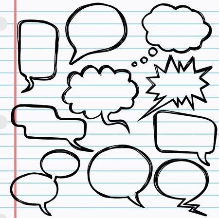 idea bubble: Vector illustration of 10 speech bubbles Illustration
