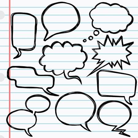 Vector illustration of 10 speech bubbles Ilustrace