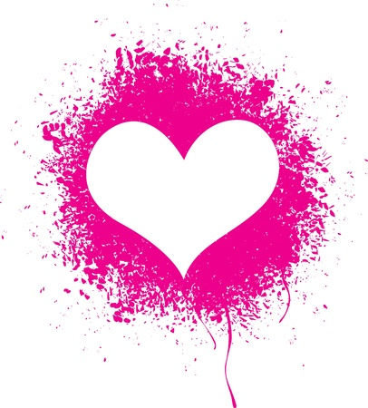 Vector illustration of a sprayed heart shape Vector