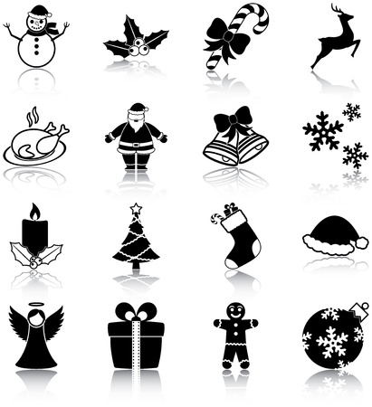 Christmas related icons Stock Vector - 22752173