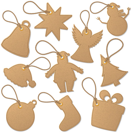 Christmas related tags Vector