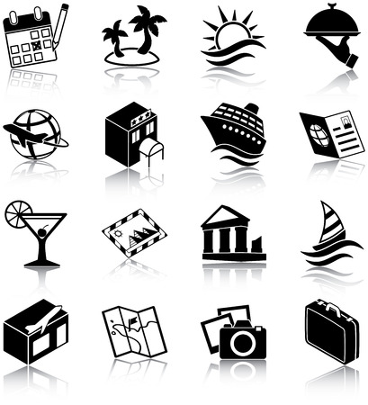 Travel related icons Vector
