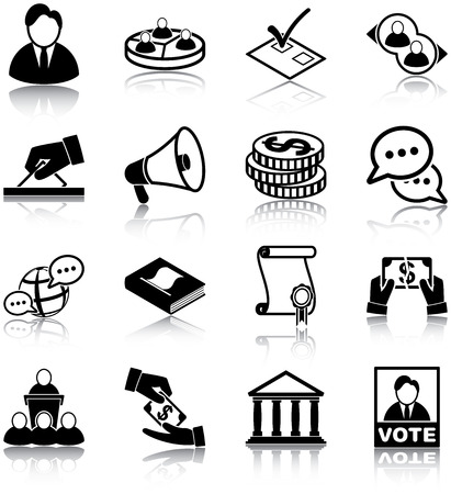Politics related icons Vector