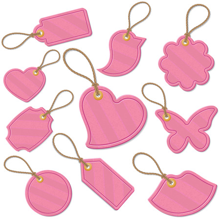Set of love related tags Vector