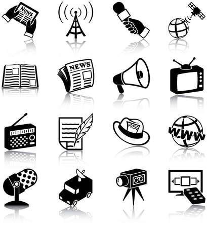 Icone mass media relative