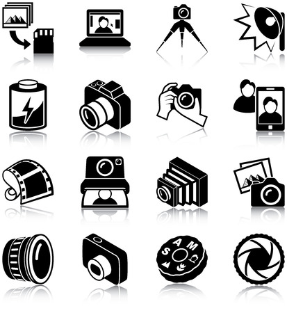 Photography related icons Çizim