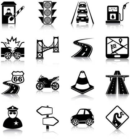 Road Traffic Icons Vector