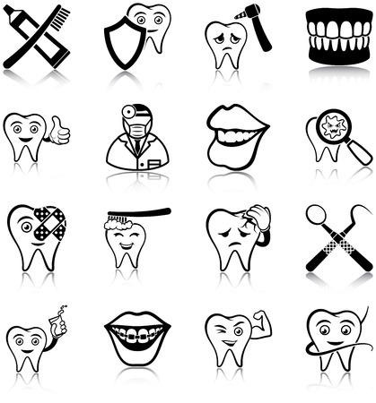 dentures: Dental care icons