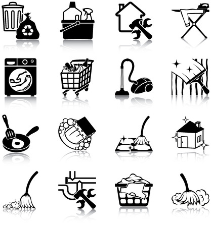 rubbish cart: Housekeeping icons