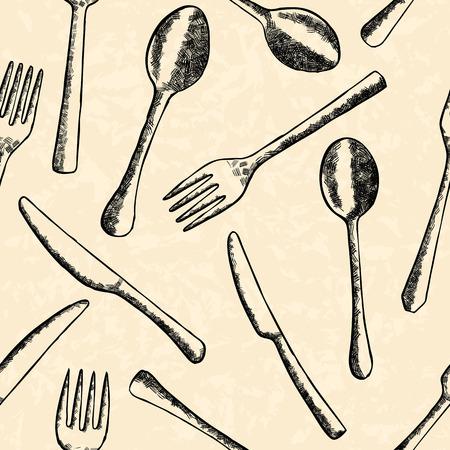 Bestek naadloze patroon in de hand getekende stijl