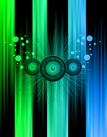 Disco club flayer with colorful elements. Ideal for poster and music background. Vector