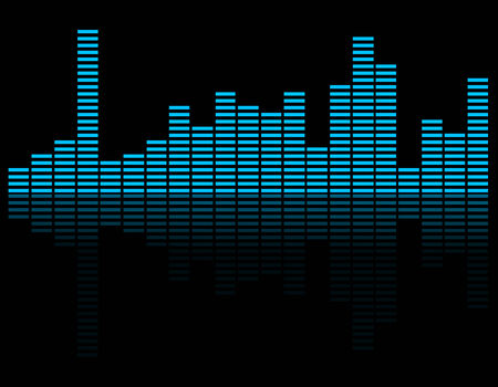 graphic equalizer: Music inspired graphic equalizer background. Illustration