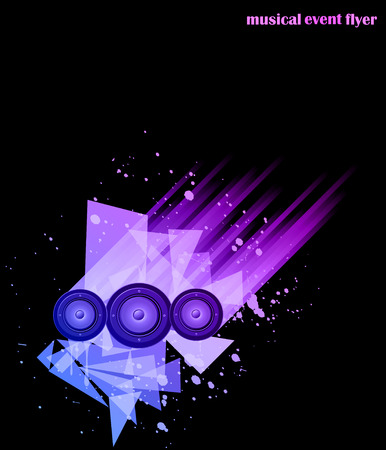 Music background for Disco Club Flayers. Ideal for poster and music background.