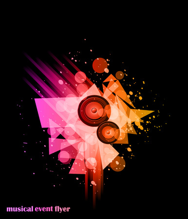 party club: Music background for Disco Club Flayers. Ideal for poster and music background.