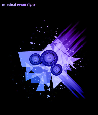 flayers: Music background for Disco Club Flayers. Ideal for poster and music background.