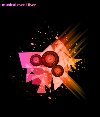 baile hip hop: M�sica de fondo para Disco Club Flayers. Ideal para el cartel y m�sica de fondo. Vectores
