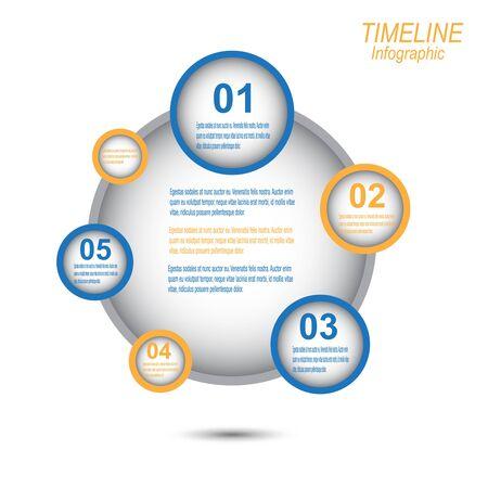 lments graphiques: La ligne du temps pour afficher vos donn�es avec des �l�ments graphiques Information. Id�al pour l'information, l'affichage des donn�es statistiques. Illustration