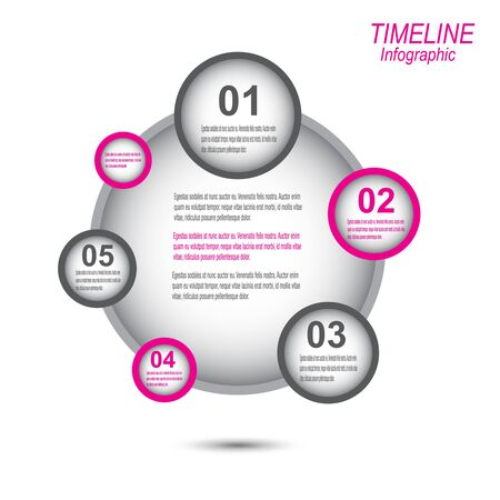 graphic elements: Time line to display your data with Info graphic elements. Ideal for information, statistic data display.