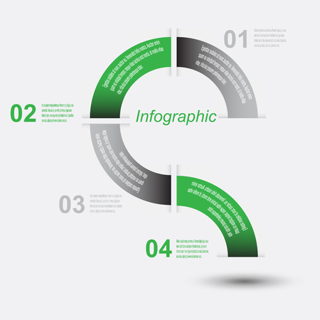 infomation: Infographic design template with paper tags. Ideal to display information, ranking and statistics