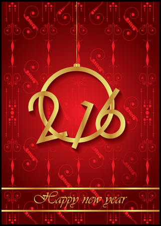 Happy New Year background for your invitation, festive poster.