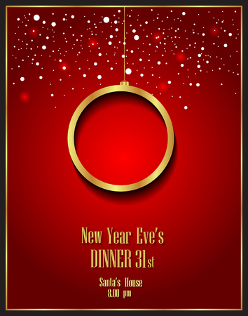 new years eve dinner: Happy New Year and Happy Christmas background for your flayers, invitation, posters, greetings card.