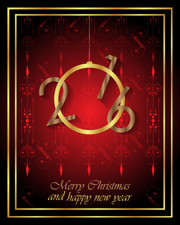 new years eve dinner: Happy New Year and Happy Christmas background for your flyers, invitation, posters, greetings card
