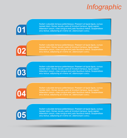 abstract design elements: Infographic template design Ideal to display data and informations. Illustration
