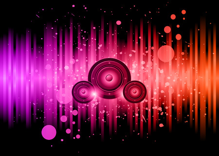grunge background: Disco club flayer with colorful elements. Ideal for poster and music background.