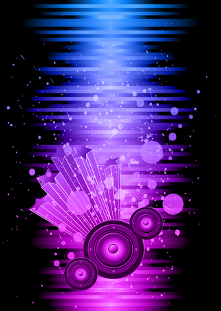 nightclub flyer: Disco club flayer with colorful elements. Ideal for poster and music background.