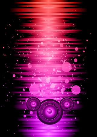 disco speaker: Disco club flayer with colorful elements. Ideal for poster and music background.