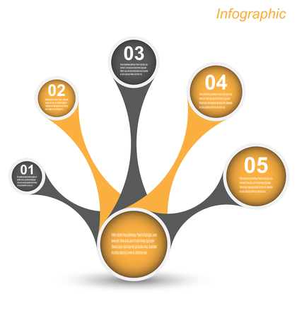 bar graph: Infographic design for product ranking. Ideal for statistic data display. Illustration