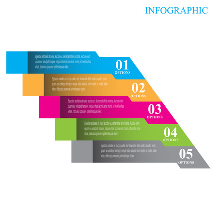 Infographic design for product ranking. Ideal for statistic data display. Illustration