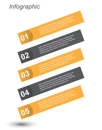 ideal: Infographic template design Ideal to display data and informations. Illustration