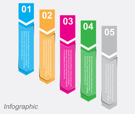 product display: Infographic design for product ranking. Ideal for statistic data display. Illustration