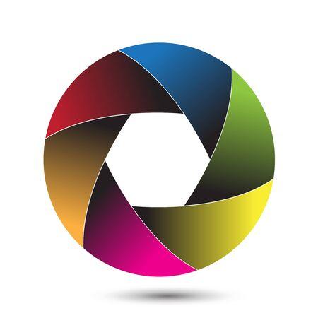 camera shutter: Colorful camera shutter. Vector illustration